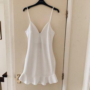 Missguided strappy white mini dress